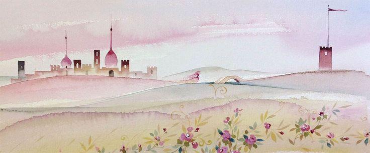 aria rosa watercolor