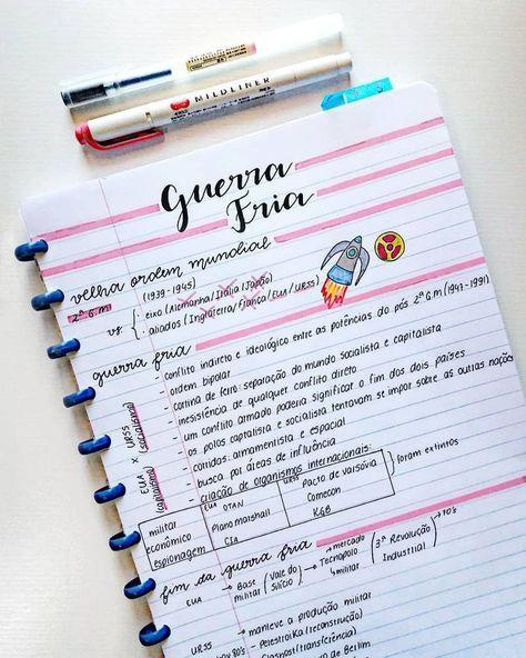 Anotações de Geografia – Guerra Fria #study #studygram #studyblr #studying #no…