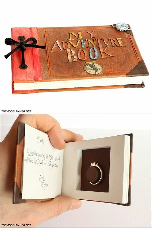 Up-inspired engagement ring box. #pixar #disney