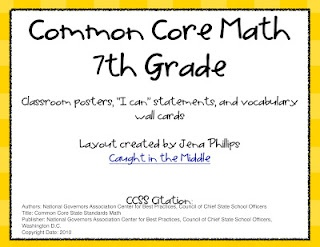Common Core 7th grade math posters Free download!