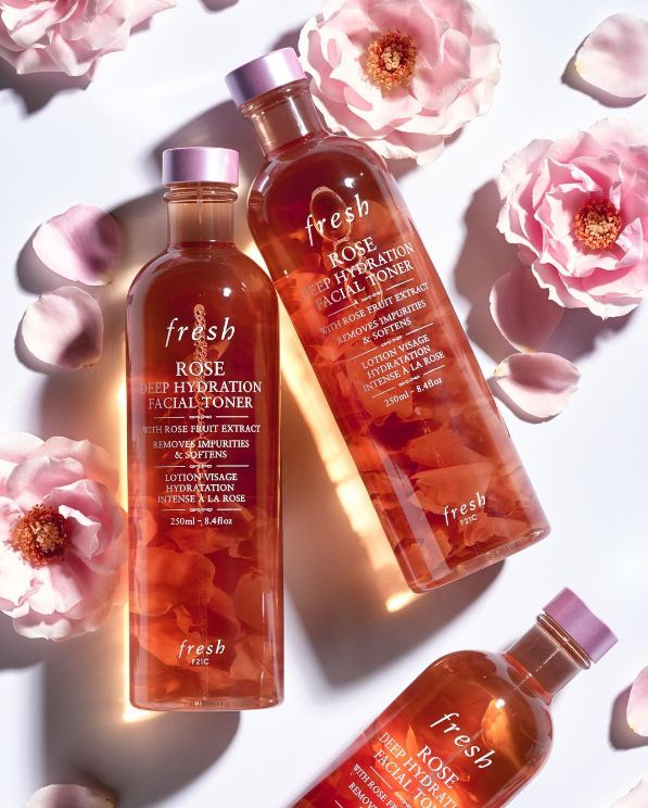 Meet our new liquid skincare superstar. Infused with real rose petals, Rose Deep Hydration Facial Toner gently cleanses and softens skin. Available now at Sephora and Fresh shops. #FreshRose