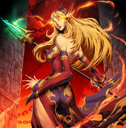 WoW Sexy Mage | 30+ Must-see World of Warcraft Illustrations You're Gonna Love