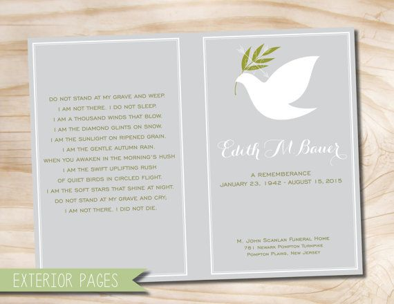 17 best Funeral Order of Service Designs images on Pinterest - funeral invitation templates