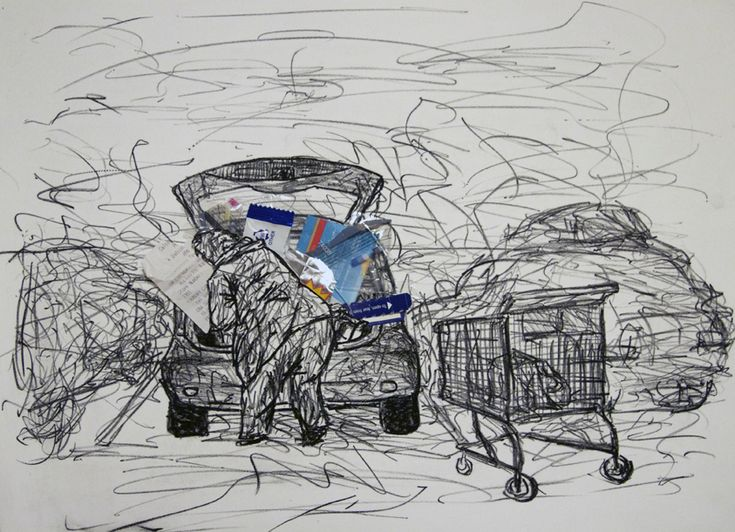 Car stuff - Lithograph with packaging materials 2013