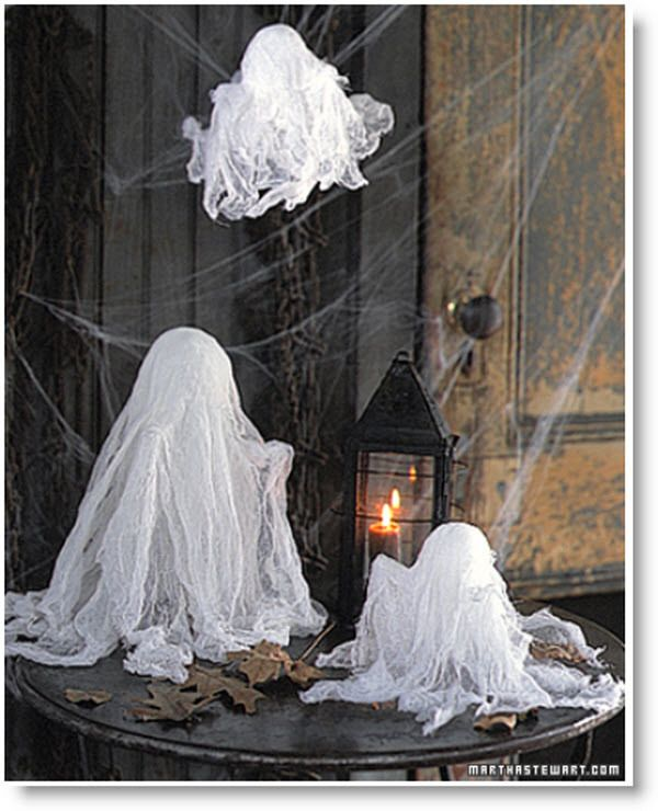 Ghosts decoration ideas halloween fall pinterest for Ghost decoration ideas