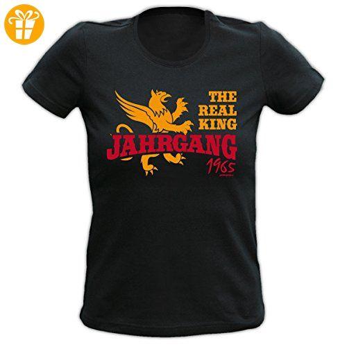 Cooles Damen T-Shirt zum 52. Geburtstag The Real King 1965 Geschenk zum 52