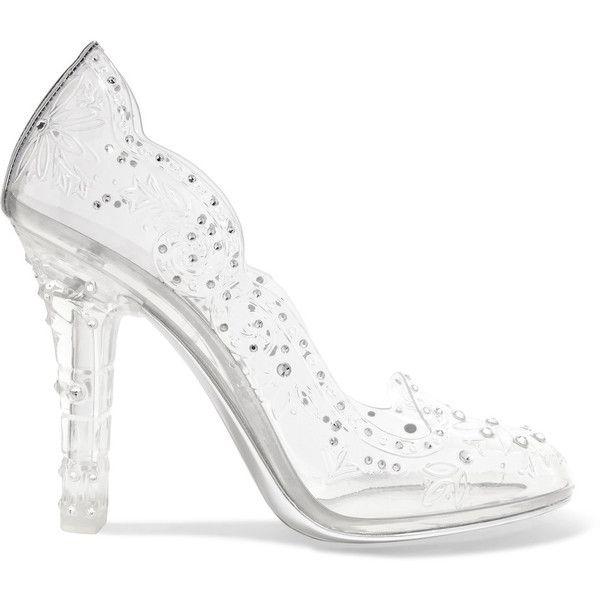 3c09d2bfad0 Dolce & Gabbana Cinderella crystal-embellished PVC pumps (141815 ALL ...