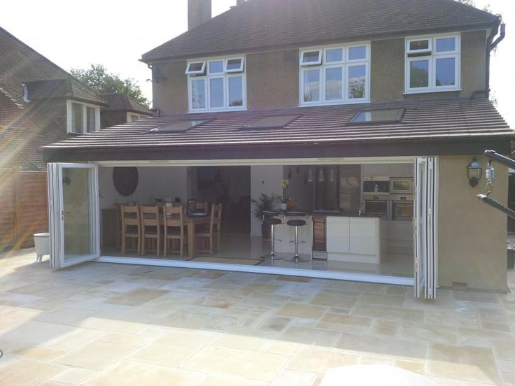 bifold doors with small step