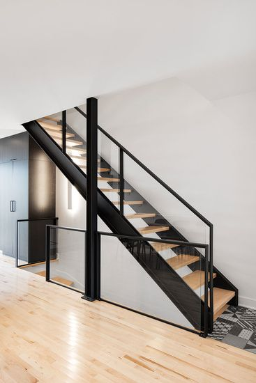 Staircase, railing and tiles - Perfection achieved