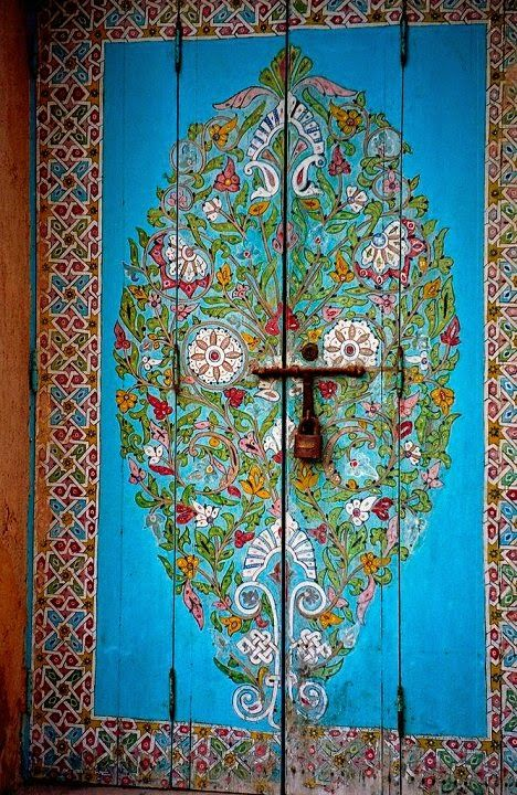 Dishfunctional Designs: Beautiful Unique Painted Doors - Indoors and Out