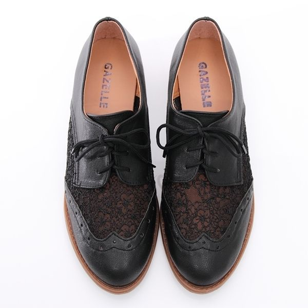 BN Classics Dress Work Lace Ups Lace Oxford Heels Shoes Boots Booties Beige Blk in Clothing, Shoes & Accessories, Women's Shoes, Flats & Oxfords | eBay