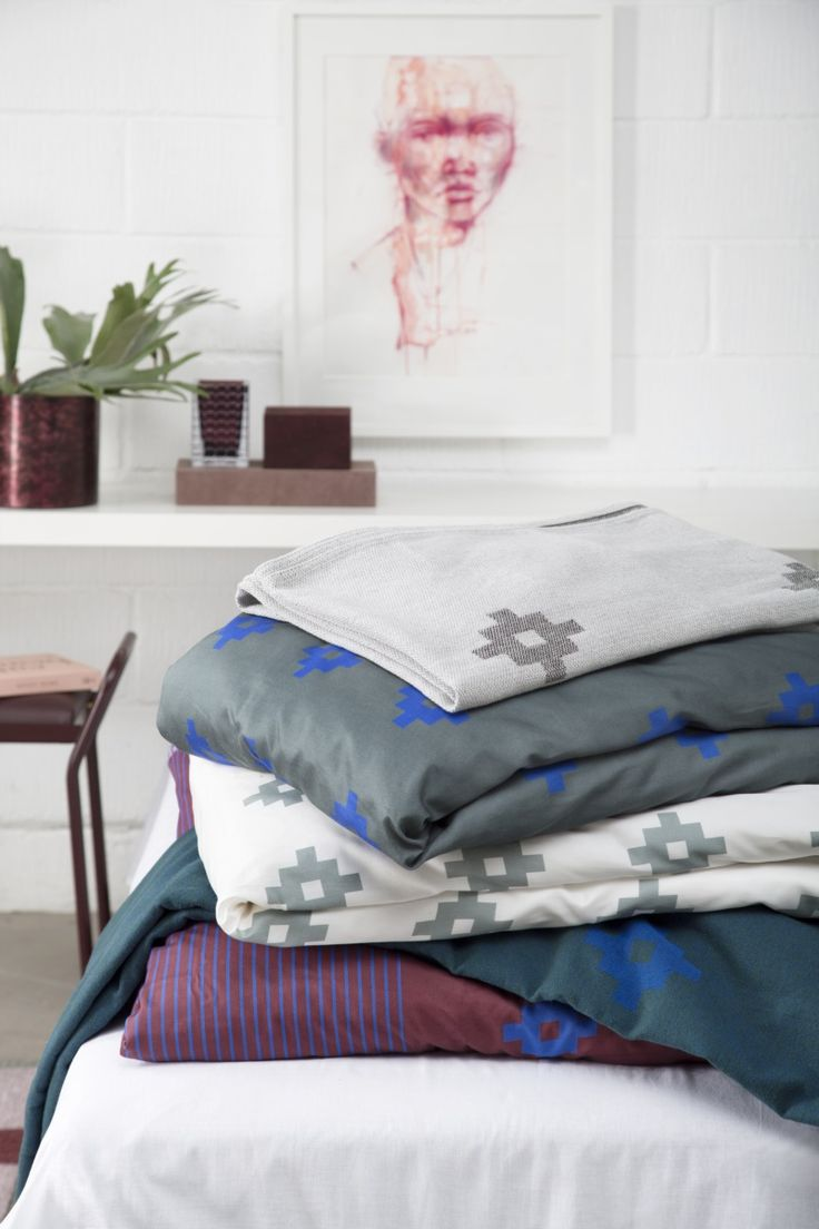 Bedlinen and bedspread from Mette Ditmer