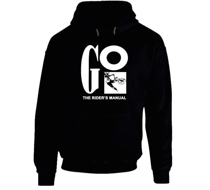 Old School Bmx Go The Rider's Manual Hoodie