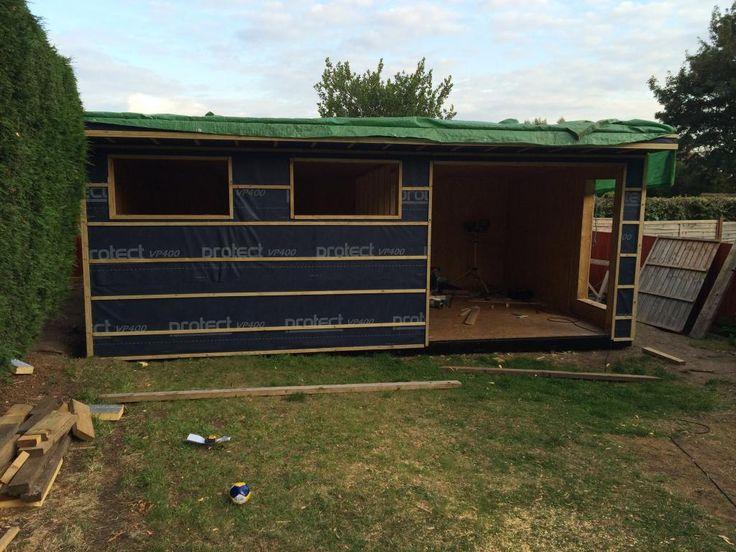 Posh Shed Garden Room DIY Build Gassing Station