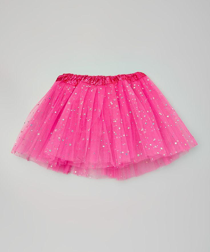 Hot Pink Sparkle Star & Dot Tutu - Girls