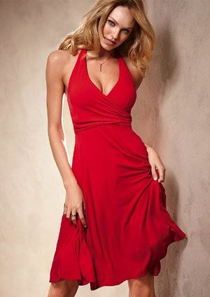 Red Halter Dress for Summer Nights - wadulifashions.com