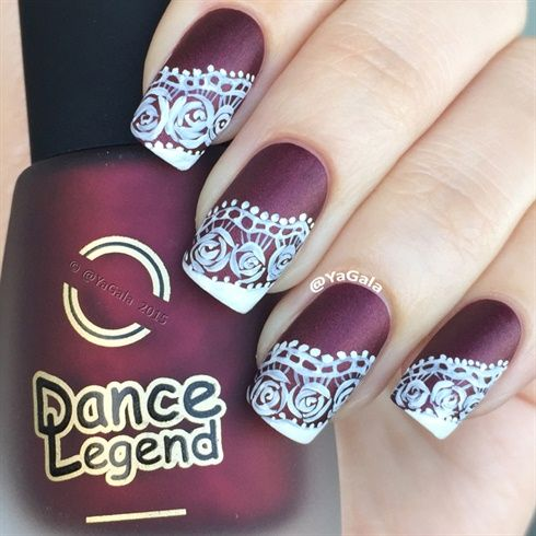 Freehand Lace by Yagala from Nail Art Gallery