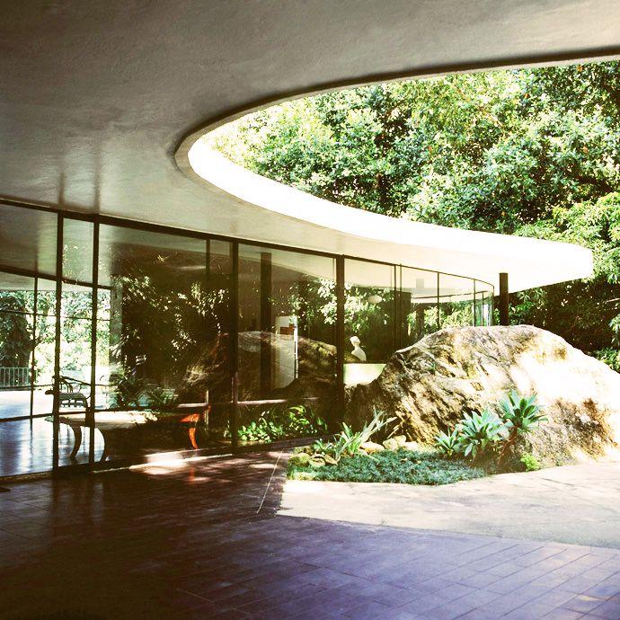Oscar Niemeyer's Casa de Canoas, Rio de Janeiro, Brazil