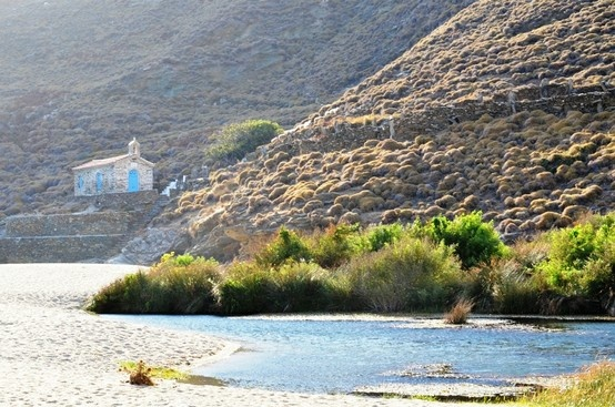 On the East side of #Andros, north of the cosmopolitan #Chora, lies a rare and protected wetland. Covering an area of about 18 acres, it is bordered by a river which flows down from the hill sides around #Vourkoti village and ends its journey at #Ahla #beach. In this magical place where the #river meets the #sea we have created #ONAR. #Greece