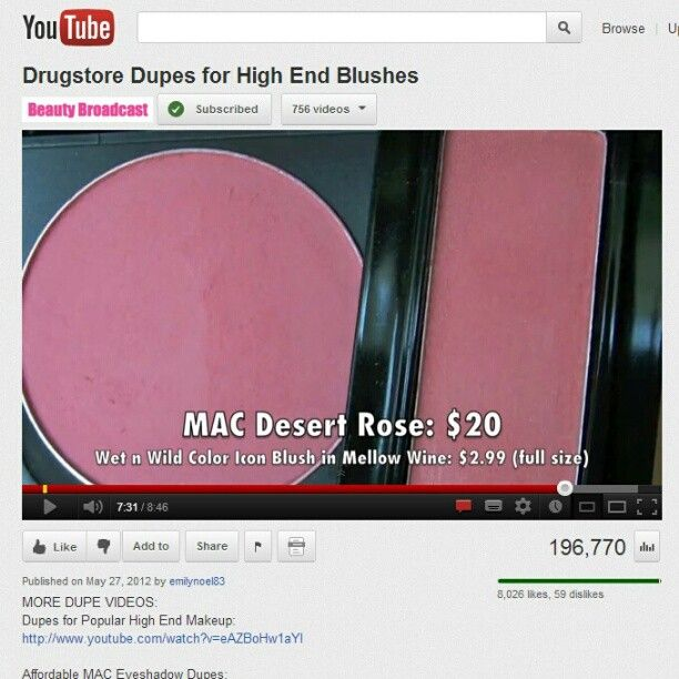 #dupes, LOVE Emily's videos! ❤