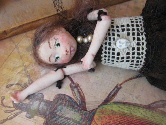 Drucilla Nightshade.handsculpted vampire art by FairytaleVillage, $55.00