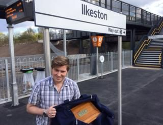 Man takes grandad's ashes for 'special' Ilkeston train ride