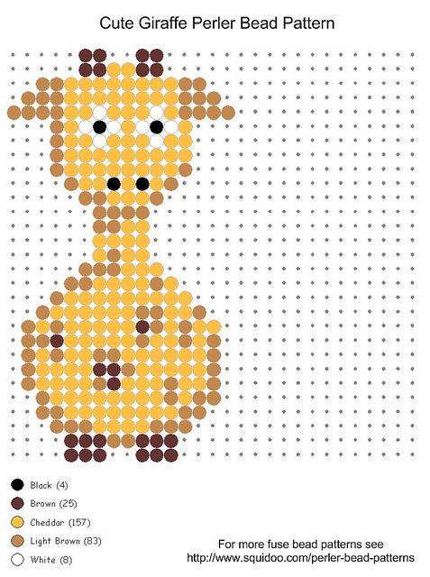 melty beads farm animal    cute giraffe perler bead pattern   Flickr - Photo Sharing!