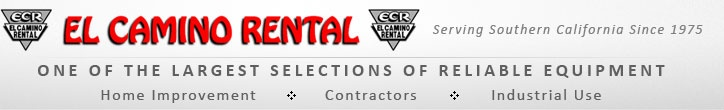 Construction Equipment Rental Company - Heavy Equipment Rentals in San Diego | El Camino Rental #construction_equipment_rental #heavy_equipment_rental