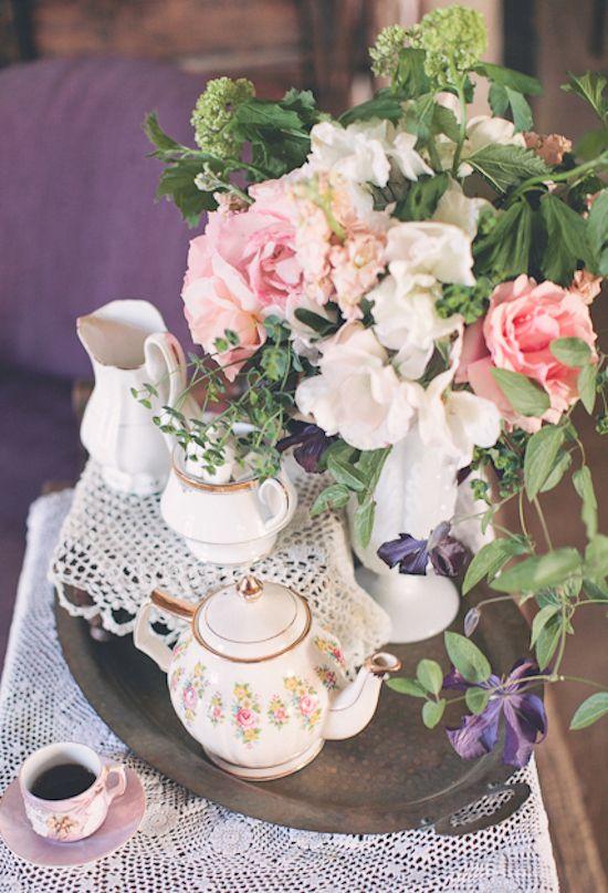 300 best vintage tea party images on pinterest high for Flower arrangements for parties
