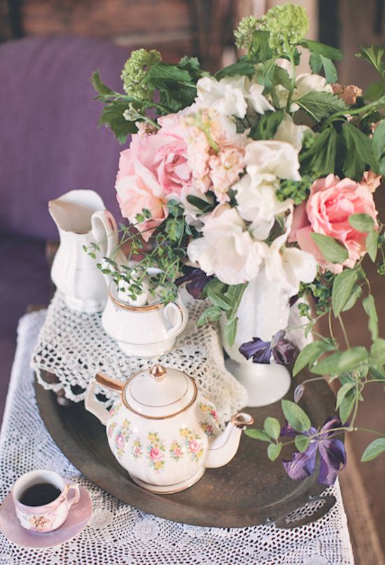Flowers For Your Victorian Tea Party - Flower Delivery