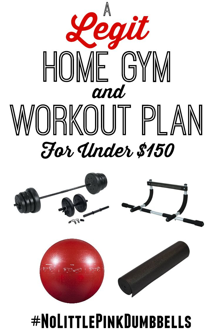 A legit home gym and workout plan with equipment costing