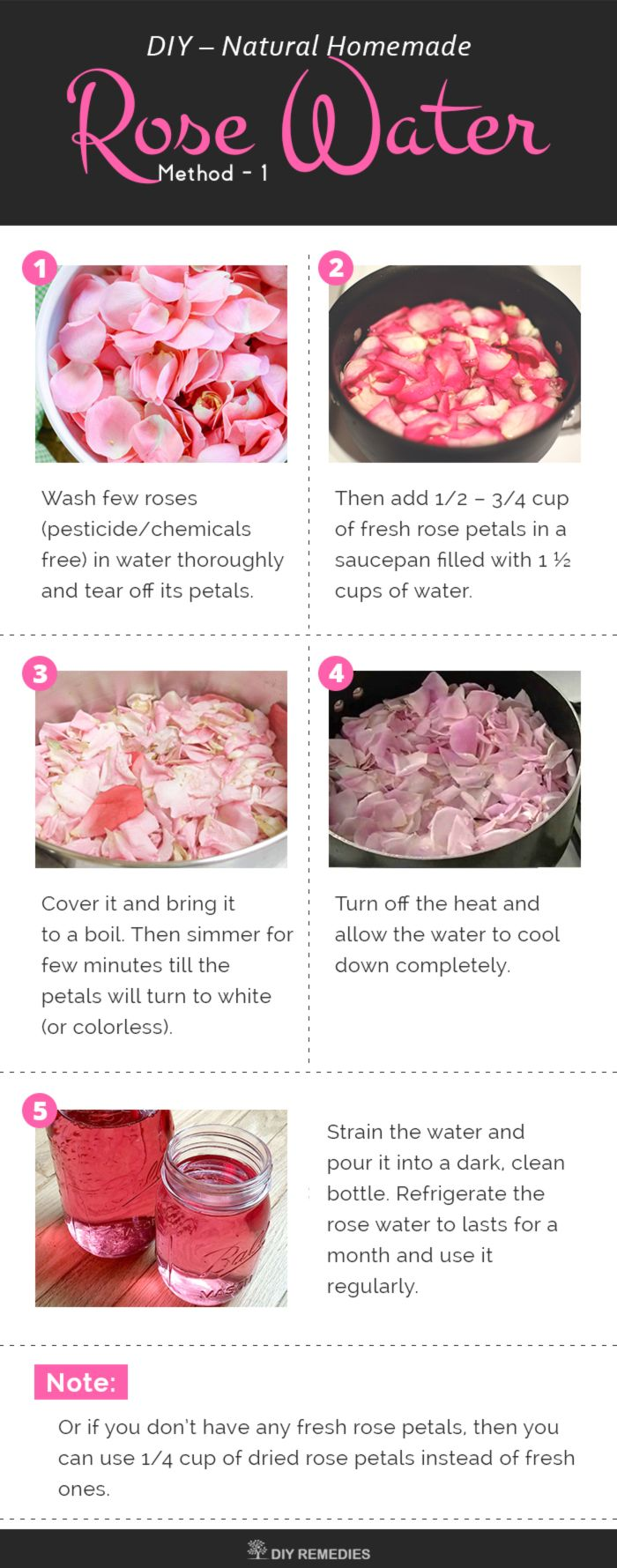 Homemade Natural Rose Water
