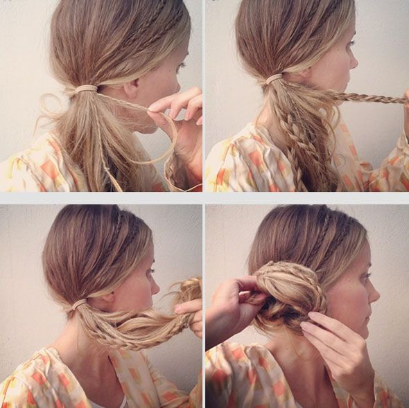Micro-Braided Side Bun Tutorial  #buns #updos #hairstyles