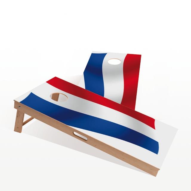 Cornhole Board - Dutch Flag. The themed boards of Gockel #Cornhole come in several different designs. We have a design for everyone! www.gockel-cornhole.com