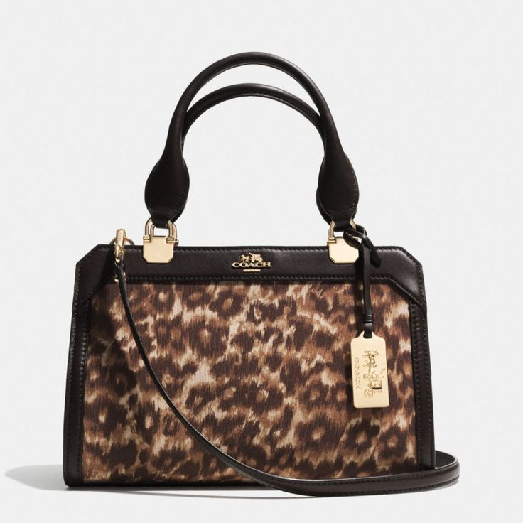 Coach Madison Mini Lexington Carryall In Ocelot Leopard Print