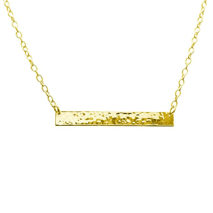 Another version of Plain Bar Necklace in 22KT Yellow Gold. Shop the full collection at www.murkani.com.au
