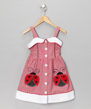 Red & White Ladybug Dress - got to get this our something similar! I love ladybugs and this is adorable.