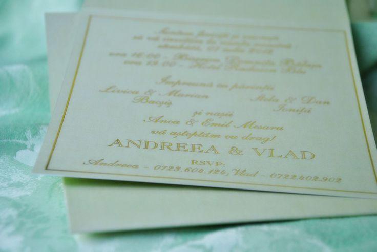 Invitatie de Nunta Verde La Duree by Eventure Co.  graphic designer T.Ina & event designer Toni Malloni  www.eventure.com.ro www.tonimalloni.ro www.bprint.ro www.eventurecentralstore.ro +40 723 701 348 office@eventure.com.ro