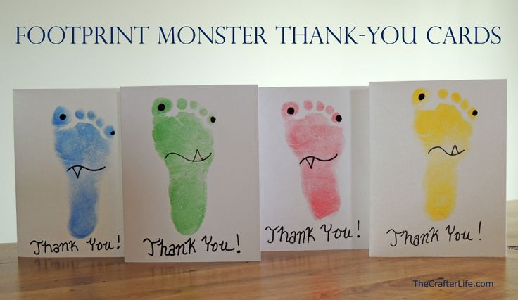 Footprint Monster Thank-You Cards