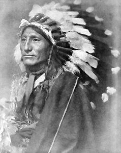Photograph - Indian Chief - 1902 by Daniel Hagerman
