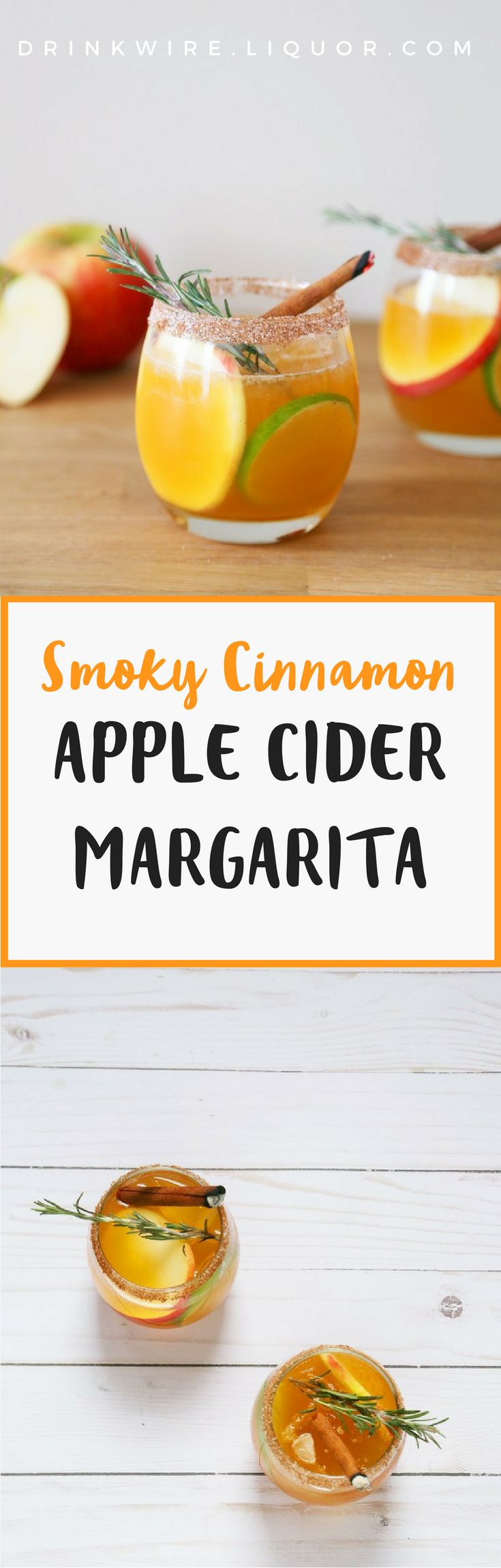 The #margarita #cocktail you need to make. Apple cider, tequila, and a touch of holiday cheer.