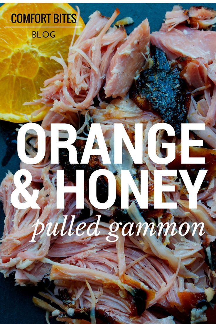 COMFORT BITES: Orange and Honey Pulled Gammon - otherwise known as a smoked ham shank