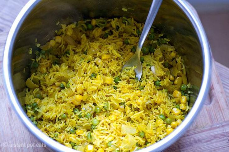 Yellow Rice Cooked In An Instant Pot Pressure Cooker