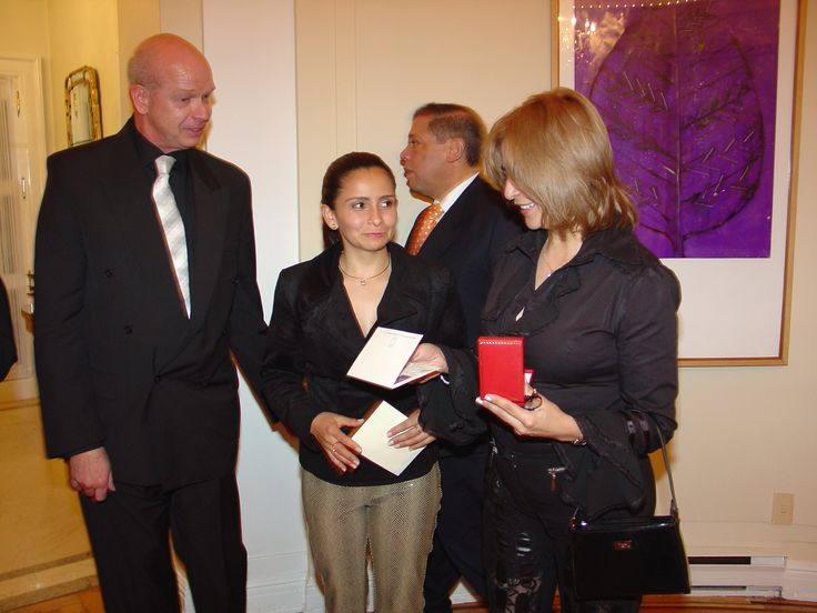 Co-Sponsor of the Fashion Show in the U.S. Embassy in Bogota with Miss Colombia Valerie Domínguez 2006 With My wife Nubia and the Winner of the Pendant Raffled by Specialist in Fine Colombian Emeralds. and the U.S. Ambassador William Brownsfield,