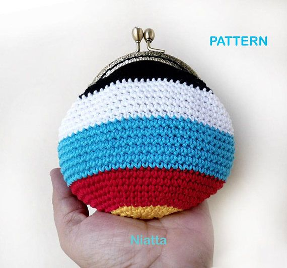 archery target coin purse crochet pattern