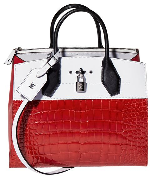 Louis Vuitton  Sac City Steamer en cuir de veau et crocodile