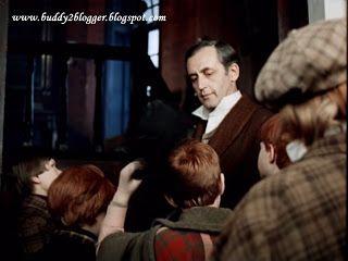 "Vasily Livanov as Sherlock Holmes with Baker Street Irregulars in ""Acquaintance"" (1979)"