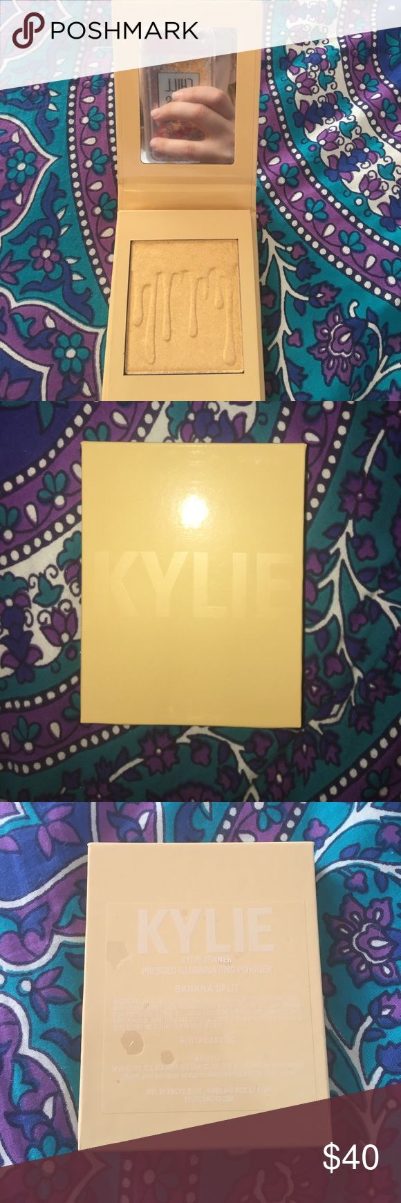 Banana Split Kylighter Banana Split Kylighter! Brand new/ Never Used! Out of stock on Kylie's website! Comes from a pet free/ smoke free home! Comment with questions and negotiations! 🍌 Kylie Cosmetics Makeup