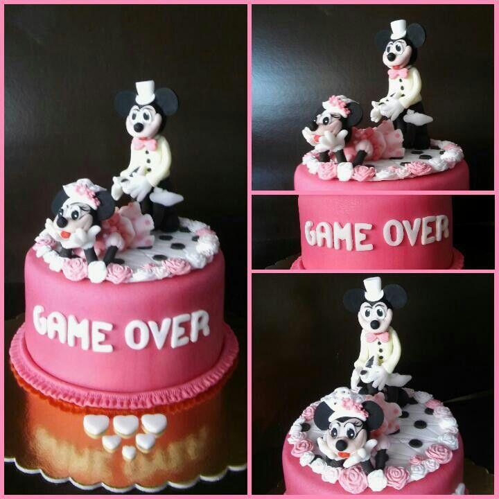 Minnie és Mickey torta lánybúcsúra