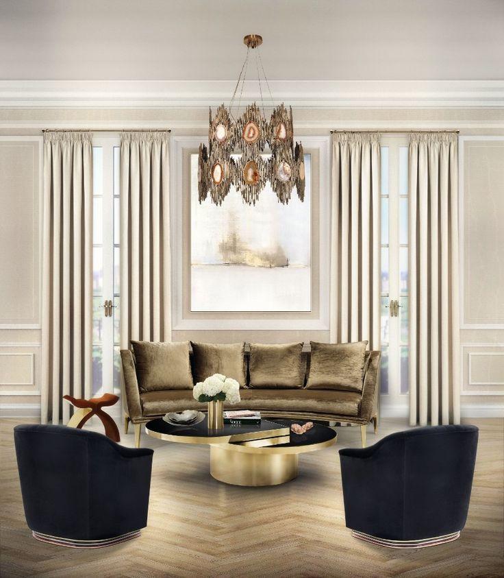 How To Decorate Around Neutral Modern Sofas For A Chic Living Room | Velvet Sofa. Living Room Ideas. #modernsofas #velvetsofa #livingroom Read more: http://modernsofas.eu/2017/03/13/decorate-neutral-modern-sofas-chic-living-room-set/